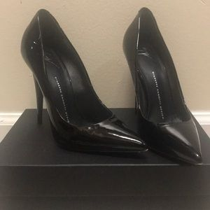 Giuseppe Zanotti Patent Black Heels.